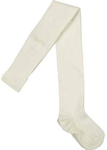 Tic Tac Toe Ivory Heavy Cotton Tights, Little Girls, (Tic Tac Toe Cotton Tights)