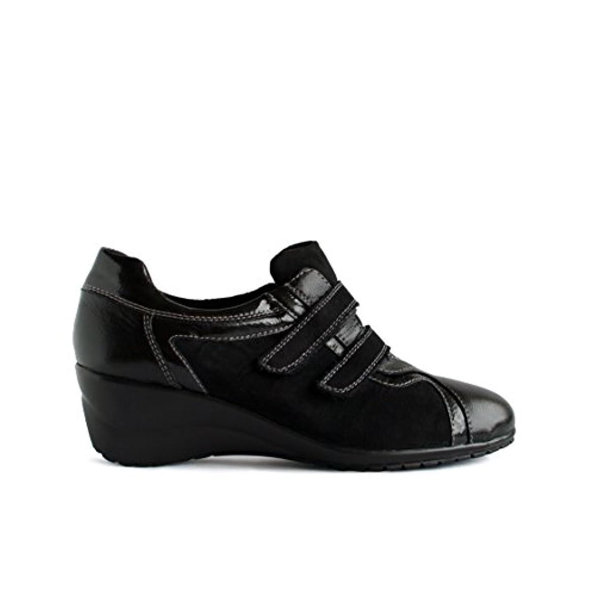 Scarpe Sneakers Strappo Doppio Pelle Scamosciata