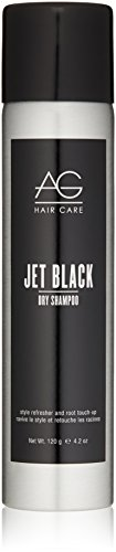 AG Hair Dry Shampoo Jet Black Style Refresher And Root Touch-Up 4.2 fl. oz. (Absorbing Powder Oil Hair)
