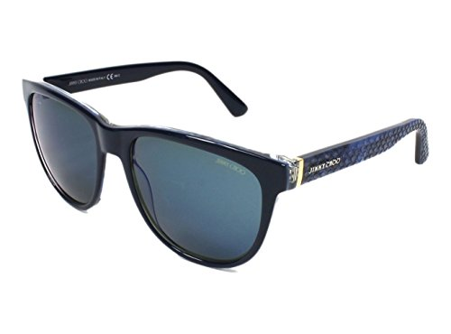 Jimmy Choo Rebby Sunglasses Blue Python / Gray - Jimmy Sunglasses Choo Blue