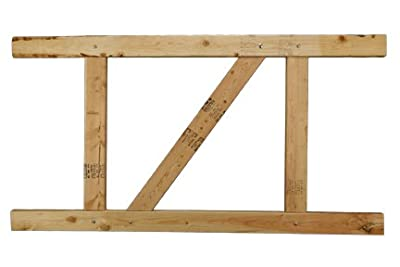 "E-Z Fit Gate Kit - 2-Rail Douglas Fir, 36""-48"" high / 36""-60"" wide"