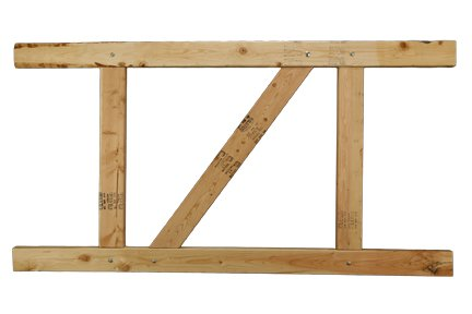 2 Rail Gate - E-Z Fit Gate Kit - 2-Rail Douglas Fir, 36