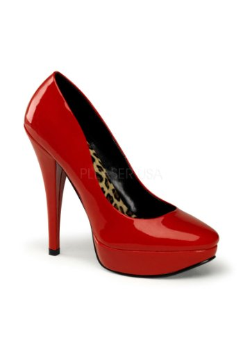 Pin Up Couture HARLOW-01 Damen Leo Pumps Lack Rot