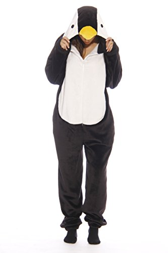 6262-XS Just Love Adult Onesie / Onesies / Pajamas,Black Penguin