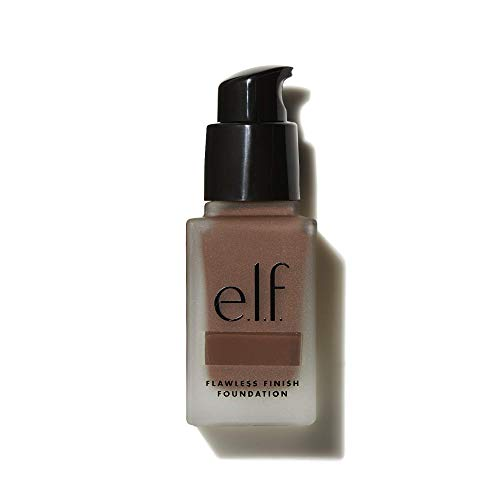 e.l.f, Flawless Finish Foundation, Lightweight, Oil-free formula, Full Coverage, Blends Naturally, Restores Uneven Skin Textures and Tones, Mocha, Semi-Matte, SPF 15, All-Day Wear, 0.68 Fl Oz