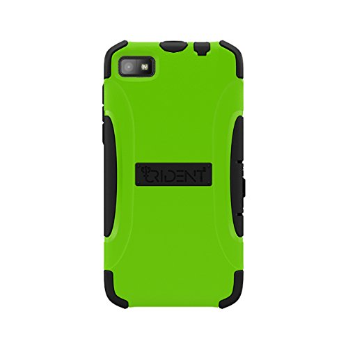 Trident Case AEGIS Series Protective for BlackBerry Z10/Surfboard/London - Retail Packaging - (Green Blackberry Faceplates)