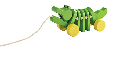 PlanToys Dancing Alligator (Plan Toys Preschool Dancing Alligator Pull Along Toy)