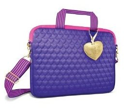 Price comparison product image Justin Bieber Fragrance Purple Heart Laptop Bag