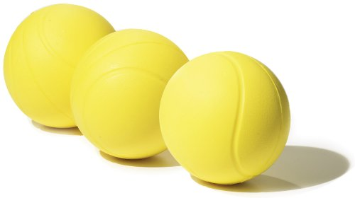 Gamma Sports Quick Kids 36 Foam Low Bounce Training and Practice Tennis Balls for Kids and Beginners, 75% Slower than Standard Tennis Balls (Designed for 36' Tennis Courts, 3 Pack, Yellow)