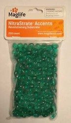 Maglife Usa AMX70101 250-Pack AMX NitraStrate Polymer Marine Aquarium Filter Substrate Beads, Green by Maglife Usa