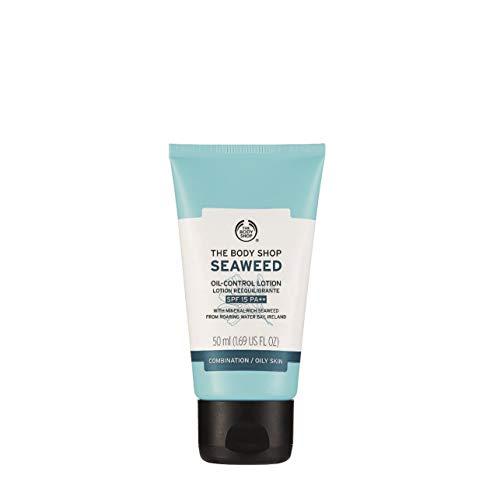Seaweed Gel Moisturizer - The Body Shop Seaweed Oil-Control Lotion SPF 15, Paraben-Free Face Lotion, 1.69 Fl. Oz.