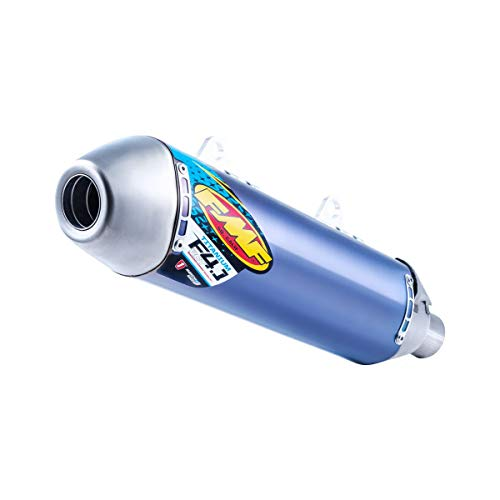 FMF Factory 4.1 RCT Slip-On Exhaust (Blue Anodized Titanium with Titanium Mid Pipe) for 16-18 KTM 450SXF