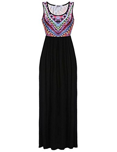 Womens Maxi Boho Summer Long Skirt Evening Cocktail Party Dress - 1