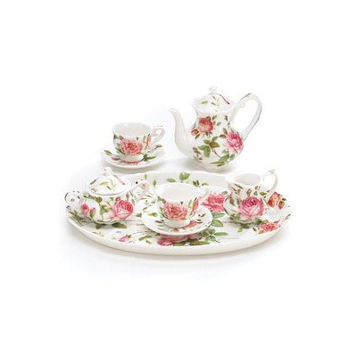 Galleon 8 Piece Porcelain Mini Saddlebrooke Tea Set