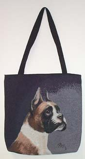 Boxer Dog Lined Tapestry Tote ()