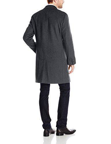 Kenneth Cole REACTION Men's Raburn Wool Top Coat, Charcoal, 38 Short by Kenneth Cole REACTION (Image #2)