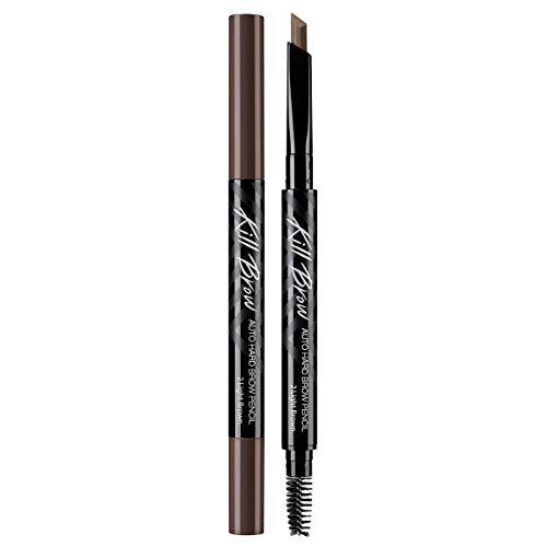 CLIO Kill Brow Auto Hard Eyebrow Pencil | Dual-End, Brow Filler, Long Lasting, Waterproof, Smudge-Resistant, Spoolie…