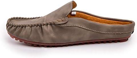 メンズ ローファー かかとなし スリッポン シューズ ラウンドトゥ ローヒール スリッパ 柔らか ソフト ビジネススリッパ サンダル スムース調 オフィス カジュアル サボ 高級感 革靴 通気 外履き 大きいサイズ 靴