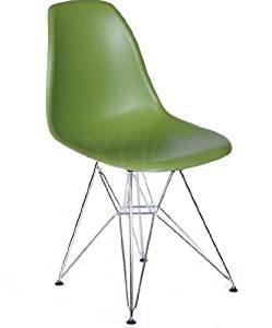 Amazoncom Molded Plastic Side Chair With Eiffel Metal Legs