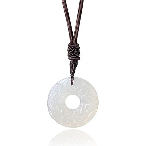 AmorWing Natural Obsidian Engraving Necklace