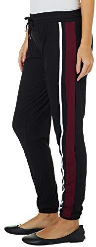 Hot Kiss Juniors Athletic Striped Jogger Pants X-Large Black/White/Blue for $<!--$12.00-->