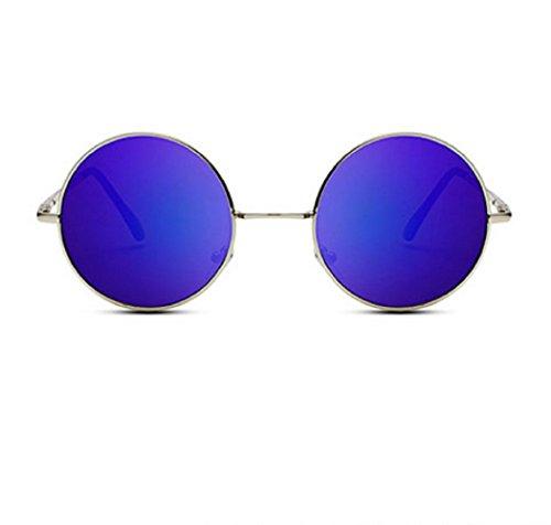 Hombres Gafas Polarizadas Púrpura Uv400 de Unisex Jhon Lennon sol Redondas yaqCfwqYB