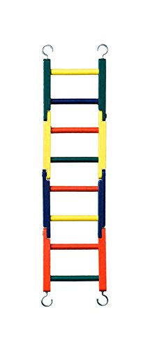 Prevue Pet Products BPV01140 Carpenter Creations Bendable Wood 4-Section Bird Ladder, 15-Inch, Colors Vary by Prevue Pet Products
