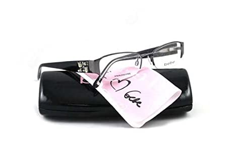78f150c1eb69 Amazon.com  BEBE EYEGLASSES BB 5015 BLACK BLACK DIAMOND AMOROUS ...