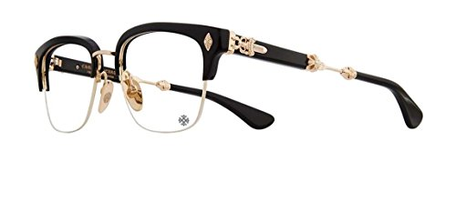 Chrome Hearts - Evagilist - Eyeglasses (Black/Gold Plated, - Eyewear Chrome