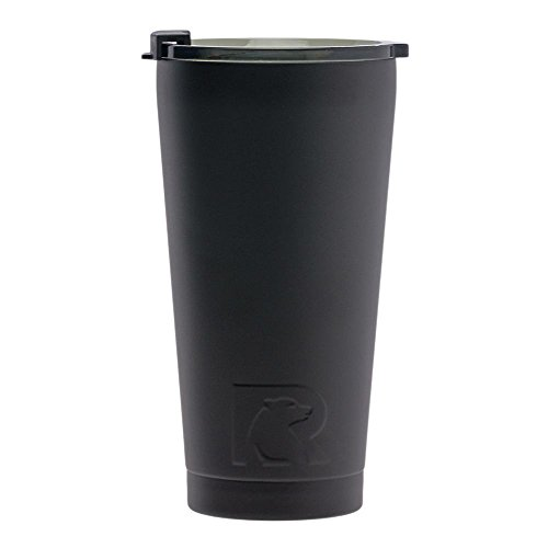 RTIC 503 Double Wall Vacuum Insulated Pint Tumbler, 16 oz, Black