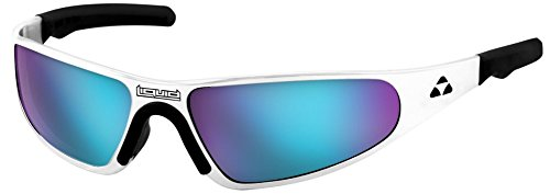 Liquid Polished Frame Sunglasses with Polarized Blue Mirror - Sunglasses Liquid
