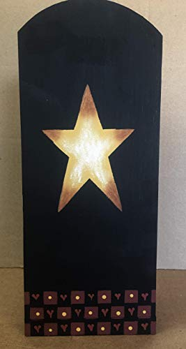 - Primitive Country Decor Hand Painted Wood Prim Star Paper Towel Holder