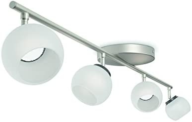 Philips myLiving LED Spot Balla 4-flammig Metall 4 W Edelstahl gebürstet/Weiß 533241716