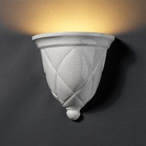 Mat Milano (Justice Design CER-1480-MAT-HAL Milano Sconce, Choose Finish: Matte White Finish (Glaze), Choose Lamping Option: 150W RSC Halogen 78MM)