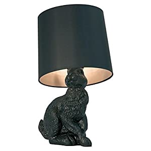 ZQ Modern fashion Cartoon Rabbit Table Lamp Resin Carved Body Fabric Shade , 110-120V