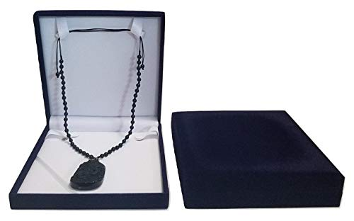 JM XXL Extra Large Navy Blue Velvet Gift Box for Set Jewelry - Long Necklace Bracelet, Ring Travel Jewelry Organizer