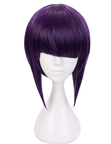 Short Dark Purple Japanese Hero Anime Cosplay Wig(Dark