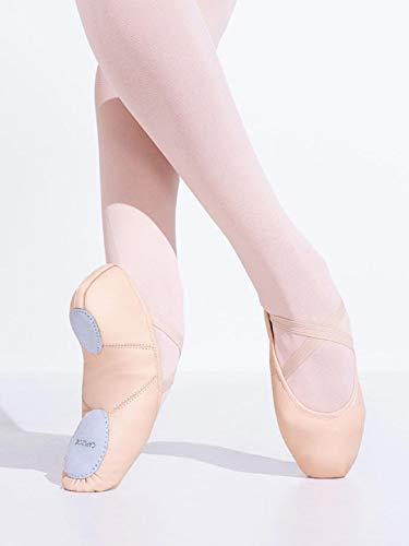 Capezio Women's Leather Juliet Ballet Shoe Slipper - Size 5.5 M, Light Pink