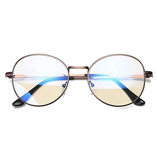 dorado prueba equipo femenino Gafas retro macho coreano marco radiación Frame Bronze gafas de frame gafas marea anti azul KOMNY a qTxFnzEwzp