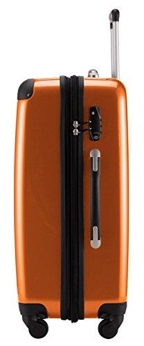 HAUPTSTADTKOFFER® 119 Liter Hartschalen Koffer · (75 x 52 x 32 cm) · Hochglanz · TSA Zahlenschloss · ORANGE