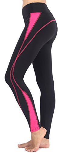Neonysweets Womens Workout Pants Yoga Pants Active Leggings Black Rose L