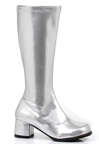 ELLIE SHOES Girls (Kids) Dora (Silver) Child Boots Polyester Medium (13/1) US