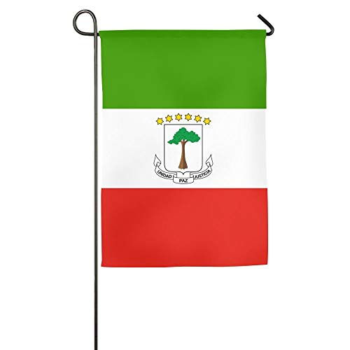 Flag of Equatorial Guinea Floral Garden Yard Flag Banner for Outside House Flower- Best for Party Yard and Home Outdoor Decor ()