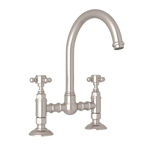 ROHL A1461XMSTN-2 KITCHEN FAUCETS, Satin Nickel