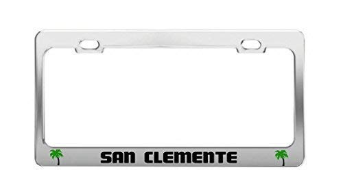 GRAETfeoglsd San Clemente United States Beach Shore Coast Fun License Plate Frame Funny Metal Car Tag Holder Fun, Thanksgiving Day Gifts (Clemente Flowers San)