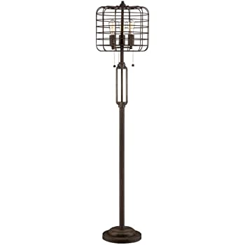 Industrial cage 65 high metal floor lamp with edison bulbs industrial cage 65 high metal floor lamp with edison bulbs aloadofball Image collections