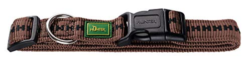 Hunter Power Grip Vario Basic Nylon Dog Collar (8.7-13.8in) (Brown)