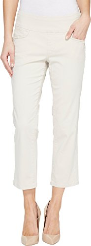 Jag Jeans Women's Baker Pull-On Crop In Bay Twill Stone 0 (Perfect Stretch Twill Cropped Pants)