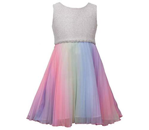 Bonnie Jean Girls Unicorn Magic Rainbow Tutu Ballet Sleeveless Dress 6Y from Bonnie Jean
