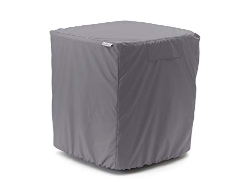 Covermates - Air Conditioner Cover - Fits 24 Width x 24 Depth x 22 Height - Elite - 300 Denier Polyester - Covered Mesh Vent for Airflow - Back Opening - 3 YR Warranty - Water Resistant - Charcoal